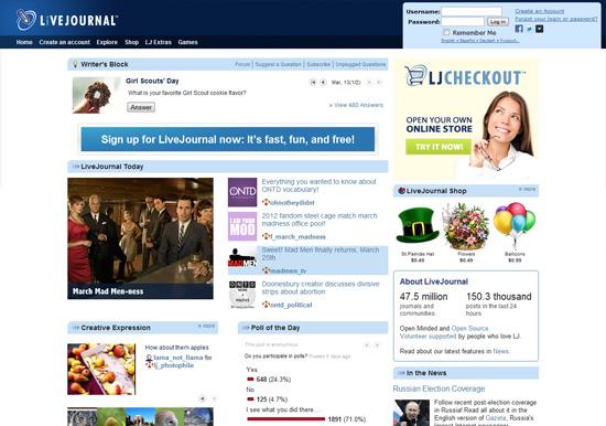 0254 10 free blogging livejournal   Le 10 principali piattaforme online per aprire un blog gratuitamente