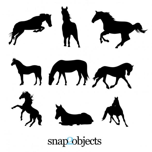 set gratuito di 9 sagome vettoriali di cavalli pixolo it dance clipart pics dance clipart black and white