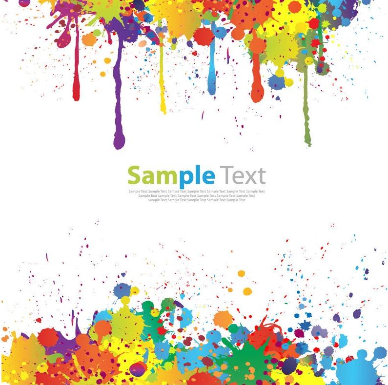 Sfondo vettoriale con colorati schizzi di pittura pixolo for Free photo paint